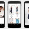 Оформление заказа с помощью телефона через приложение Bonprix