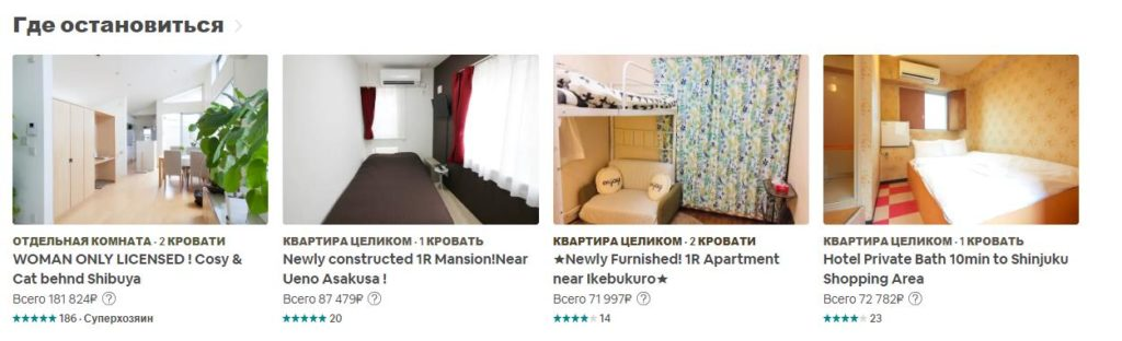 Перечень недвижимости