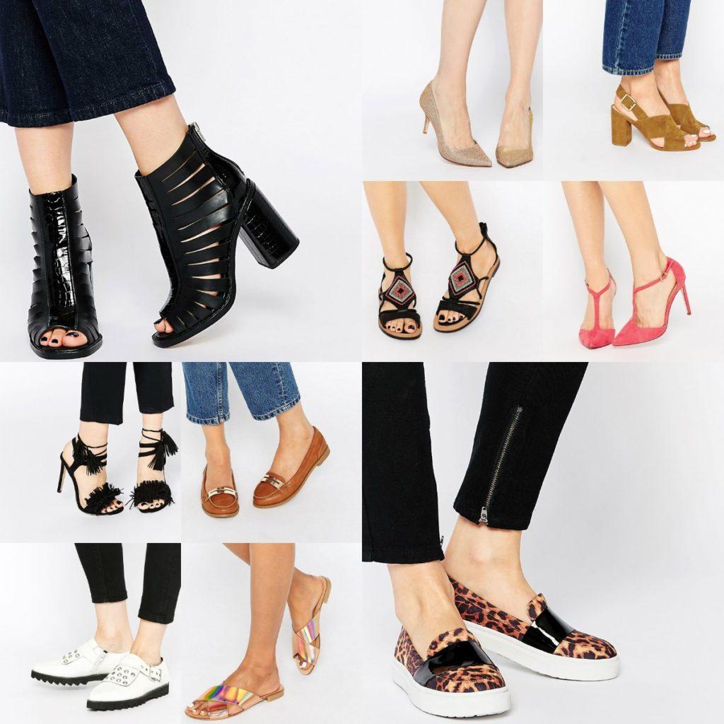 Размеры обуви Asos