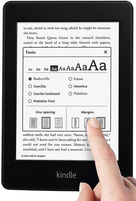 Amazon Kindle изменить шрифт