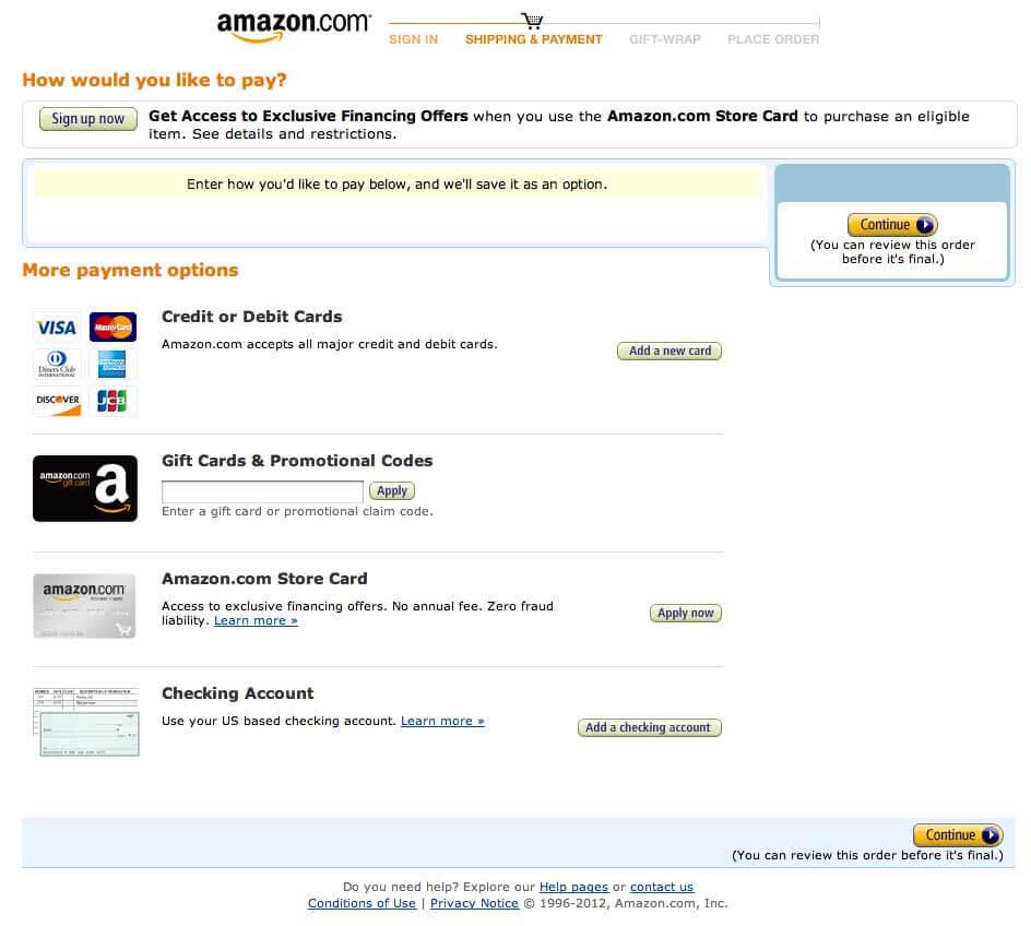 Как оплатить заказ в Amazon