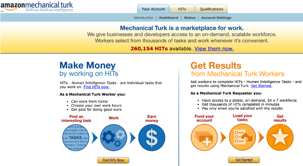 Amazon Mechanical Turk регистрация