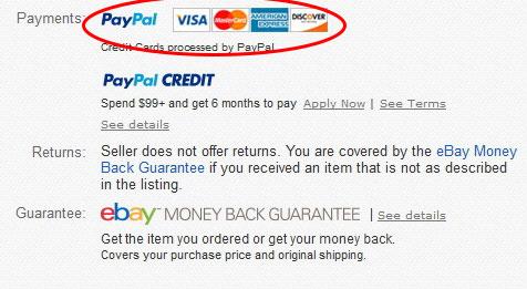 Ebay оплатить картой