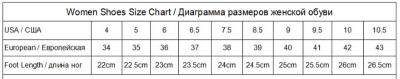Как определить размер женской обуви